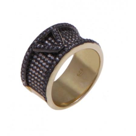 Ασημένιο δαχτυλίδι VISETTI με ζιργκόν
