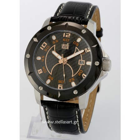 visetti black carbon dial watch  FL-SW601SB