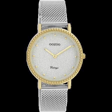 Γυναικείο ρολόι OOZOO VINTAGE σε ασημί χρυσό χρώμα C20053