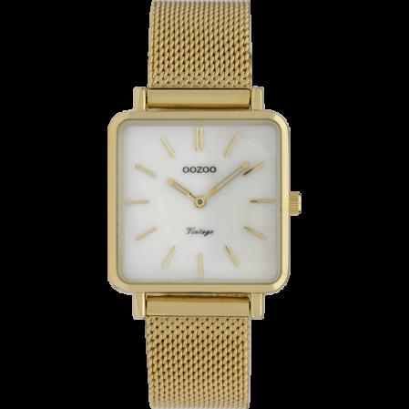 Τετράγωνο γυναικείο ρολόϊ OOZOO VINTAGE C9843