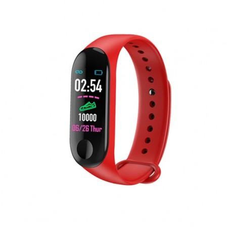 Smart watch jaga js5 με κόκκινο λουράκι από σιλικόνη